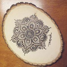 Mandala Flower #pyrography #woodburning #handmade #craft #mandala by vuvupapercutting