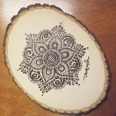 Mandala Flower #pyrography #woodburning #handmade #craft #mandala by vuvupapercutting