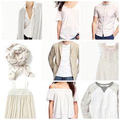Cream, White, Gray