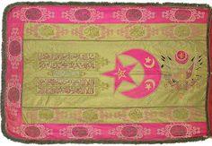 Ottoman Banner & Osmanlı Sancak Ottoman Flag, Ottoman Empire, Sultan Ottoman, Muslim Religion, Turkish Soldiers, Large Ottoman, War Photography, Historical Maps, Embroidered Silk