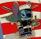 Disney Stitch as Marine Soldier Pin LE 1000 RARE