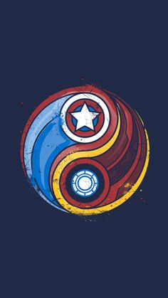 Iron Man and Captain America fan art Yin Yang Heros Comics, Marvel Dc Comics, Marvel Heroes, Marvel Avengers, Steve Rogers, Marvel Universe, Logo Spa, Captain America Civil War, Captain America Tattoo