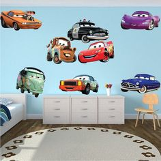 Disney Cars Wall Stickers Lightning Mcqueen Kids Bedroom - Disney cars wall decals kids rooms
