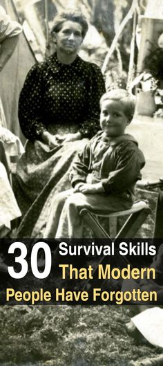 30 Survival Skills Modern People Have Forgotten. Read here to learn about at least 30 skills that used to be much more common than they are today–skills that will keep you alive if the shit hits the fan. #survivalskillsapocalypse