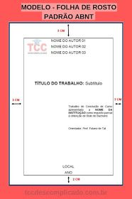 Modelo De Folha De Capa Folha De Rosto E Folha De Aprovacao No