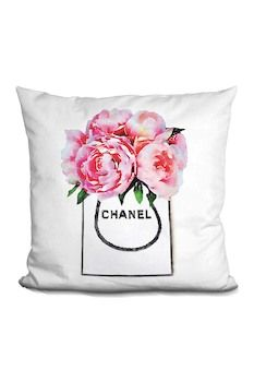 Lilipi Brand Amanda Greenwood Shopper Pink Peonies Throw Pillow