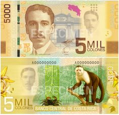 Currency is Collones Costa Rica, Money Notes, Spanish Speaking Countries, World Coins, How To Speak Spanish, Central America, Places, Money, Report Cards