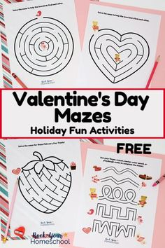 These free Valentine's Day mazes are wonderful ways to enjoy easy holiday fun with your kids. Get ideas for boosting the fun with these Valentine's Day activities & find out how to get your free printable pack today! Valentines Day History, Valentines Day Gifts For Her, Valentines Day Activities, Homemade Valentines, Valentines Day Party, Valentine Day Crafts, Valentine Ideas, Mazes For Kids, Fun Activities For Kids