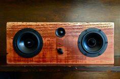 Salvaged wood speaker system. #LiquidGoldSalvagedWood