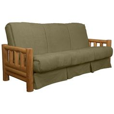epic furnishings llc grand teton futon and mattress upholstery  suede olive green size  simmons   denver futon frame with 8 inch beautyrest   pocketed coil      rh   pinterest