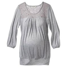 Ma Cherie Maternity 3/4-Sleeve Lace Top - Assorted Colors $24.99