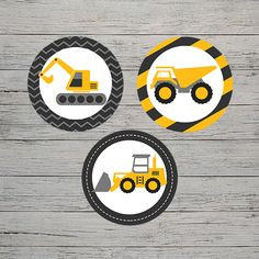 This theme is explosive! Dump everything and grab our adorable construction themed printables. Construction Cupcakes, Construction Party, Cupcake Wrappers, Party In A Box, Party Printables, Invitations, Save The Date Invitations, Shower Invitation, Invitation