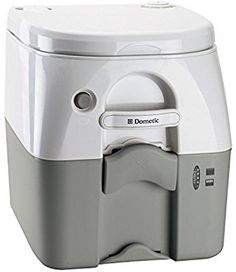 Dometic Gray 5 Gallon(W 301097506 970 Series Portable Gallon, Stainless Steel Hold-Down Brackets Portable Toilet Seat, Portable Toilet For Camping, Camping Toilet, Cargo Trailer Camper, Cargo Trailers, Camper Van, Sprinter Camper, Tiny Trailers, Small Trailer