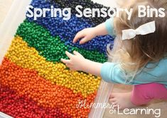 Here is a great sensory post on using chick peas! It is pretty fun and easy!!!