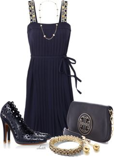 """""""Tory Burch"""" by christa72 ❤ liked on Polyvore"""