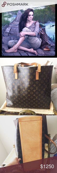 Louis Vuitton Cabas Aalto Louis Vuitton cabas alto in excellent condition.  Retailed for $2000 after tax, this is a rare and retired piece in this condition.  Featured on the Ad which had Angelina Jolie. Louis Vuitton Bags Shoulder Bags