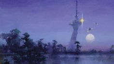 Imagining our sci-fi future through lucid dreams: How John Harris paints otherworldly landscapes...