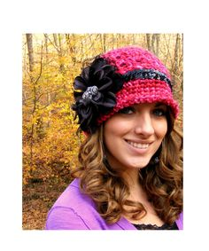 Baby Crochet Hat Pattern - All Sizes - Womans Crochet Hat Pattern - Tutorial on Flower  Vintage Jewelry App and Lace - No.58. $5.99, via Etsy.
