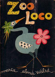 Zoo Loco, libro de limericks de María Elena Walsh, ilustrado por el maravilloso Vilar.