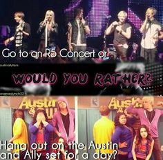 Hang out on the Austin and Ally set because Rocky, Rydel, Ratliff, Ryland, and Riker are there for every episode