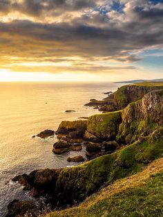 The small but spectacular bay of St Abbs and its unique lighthouse. The cliffs near St Abbs at dawn. Scotland Nature, Scotland Landscape, Scotland Travel, Skye Scotland, Cool Places To Visit, Places To Travel, Travel Destinations, Fantasy Landscape, Vacation Trips