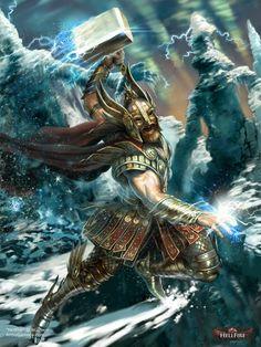 Preciosa ilustración de Thor.