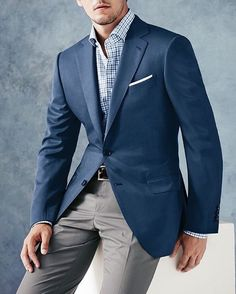 This is not perfect (the pants are way too plain) but I love combining gray and blue. Blue jacket with gray pants looks awesome. For more awesome suit check out my tumblr at EverybodyLovesSuits