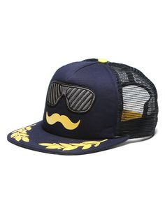 #Von #Zipper Captain's #Stache Mesh #Hat $22.99