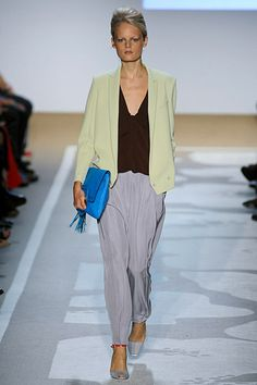 DVF Spring 2012, loose fitting slacks inspired by menswear will be popular this spring, casual comfort at its best!