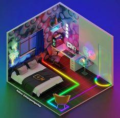 Living Room Setup, Bedroom Setup, Room Ideas Bedroom, Home Studio Setup, Music Studio Room, Small Game Rooms, Gamer Bedroom, Best Gaming Setup, Game Room Design