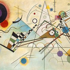 Wassily #Kandinsky, Composition VIII, 1923, Oil on canvas, Solomon R. Guggenheim