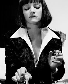Uma Thurman as the delicious Mia Wallace in Pulp Fiction