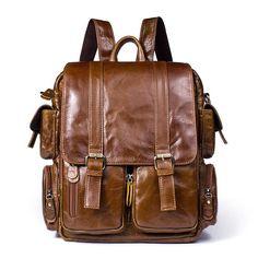71b45bc4d04b Handmade Top Grain Leather Backpack