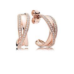Best Birthday Gift Leslies 14k ForeverLite Rose Gold Polished and Textured Earrings