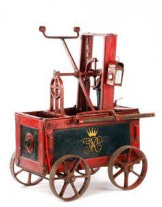 British Royal Household Hand Pump Fire Engine : Lot 740. Estimated $8,000-$12,000