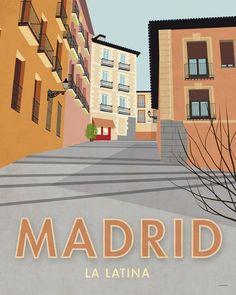 Madrid. España. Póster. Arte. Impresión por SomeLikeItShop en Etsy