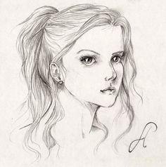 The sketch for girl | Girl sketch by xGoldilocksx