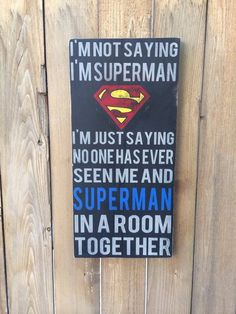 SUPERHERO Batman/Superman/Wonder by beansigns on Etsy