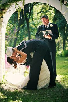 Sailor's Wedding.....hope my man does this to me at our wedding!