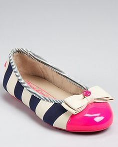 Juicy Couture Girls' Bobbi Flats - Sizes 11-12 Toddler; 13, 1-4 Child  PRICE: $85.00