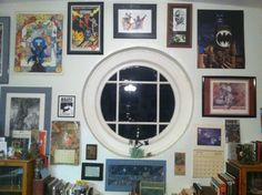 I just rearranged the art around the window in my private office to accommodate the new original piece by my pal Steve Bissette. The pieces around it and through the rest of the room - and the artists who made them - have always been a source of inspiration to me, for which I am very grateful. Moreso for those among them whom I now count as friends.