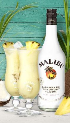 Malibu Cocktails, Virgin Cocktails, Cocktail Drinks, Drinks Alcohol Recipes, Alcoholic Drinks, Camping Bbq, Caribbean Rum, Gin And Tonic, Recipes