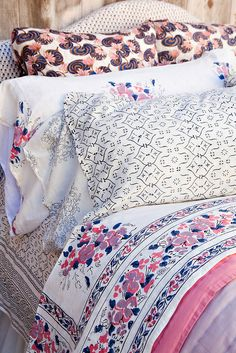 Kerry Cassill - Luxury Indian printed Bedding and Apparel — Windy Lotus Pillowcase