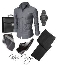 He Means Business! by keri-cruz on Polyvore featuring polyvore Dolce&Gabbana Burberry Pineider men's fashion menswear clothing