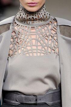 Laser cut blouse