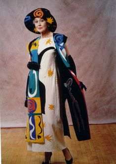 """Dance with me, Henri"" dress by artist Judy Donovan - wonderful outfit: coat with matching hat and simple dress under neath."