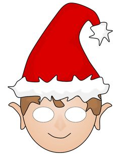 Free #Christmas Elf Printable Mask
