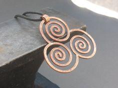 Handmade  Spiral Necklace  Copper  Celtic  by HonestAppalachia