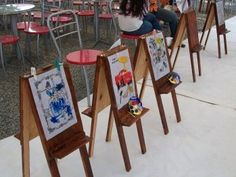 Caballetes para hacer!                                                                                                                                                                                 Más Artists For Kids, Art For Kids, Kids Art Space, Mini Spa, Carnival Games, Painted Boxes, Girl Decor, Wood Toys, Infant Activities