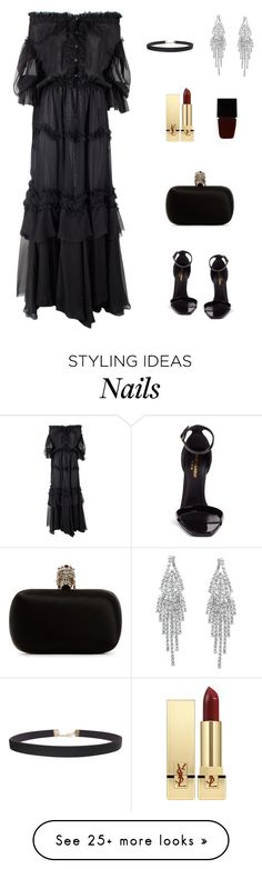 """""""Без названия #2957"""" by newyorkstylrer on Polyvore featuring Faith Connexion, Yves Saint Laurent, Alexander McQueen, Witchery and Humble Chic"""